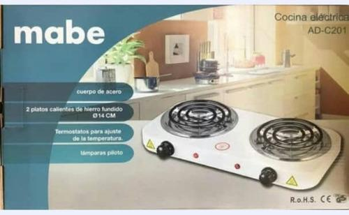 Cocina electrica 2 hornillas 2000w. mabe. garantia.