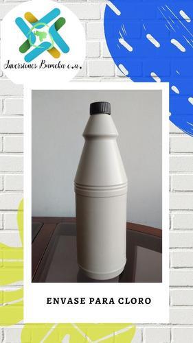 Envases plastico 1 litro polietileno cloro 0,11