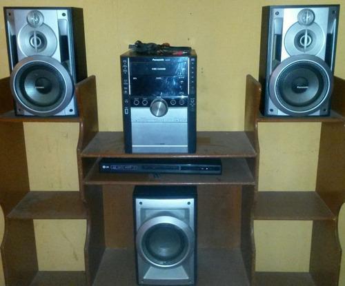 Equipo de sonido panasonic 5cds usado funcionando 100%
