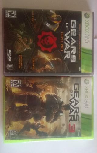 Juegos originales xbox 360 combo gears of war trilogia y mas