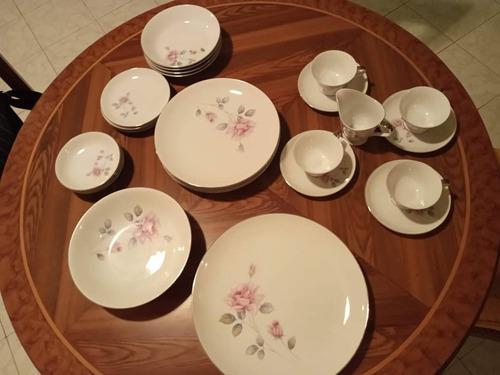 Vajilla de porcelana 27 piezas para 4 puestos