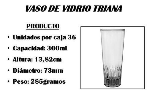 Vaso de vidrio triana oferta