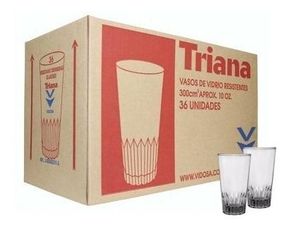 Vasos de vidrio triana cap 10 onz