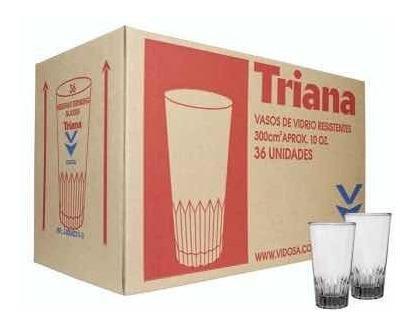 Vasos de vidrio triana x 36 unidades capacidad 10 oz