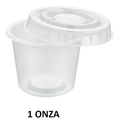Vasos desechables con tapa de 1 onza y 1 1/2 onzas