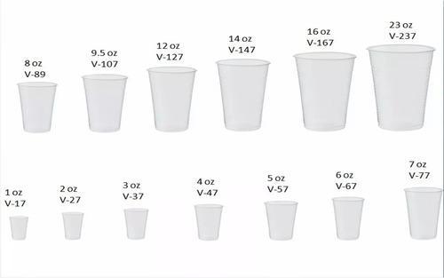 Vasos plásticos desechables