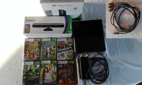 Xbox 360 mod1538 con kinect y 6 juegos kinect (sin control)