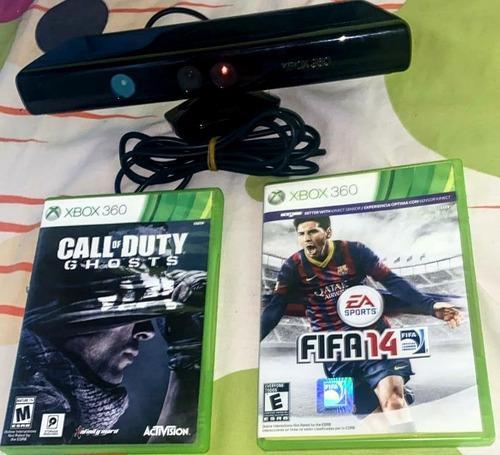 Xbox 360 slim chip rgh/kinect /1 control/3juegos origianales