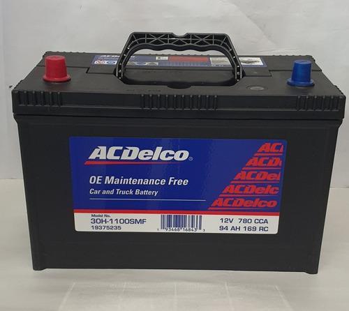 Bateria acdelco 30h y 31h 1100 amp borne y tornillo