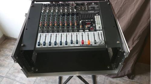 Consola behringer xenyx x1222 usb con case y soporte