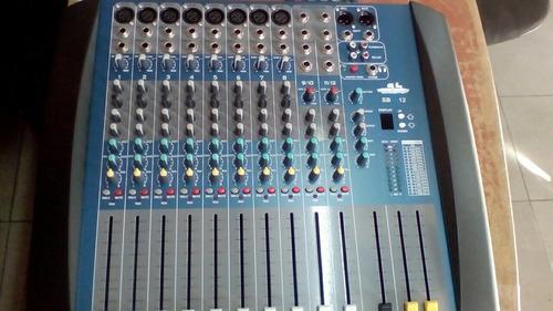 Consola sound barrier 12 canales nueva de paquete