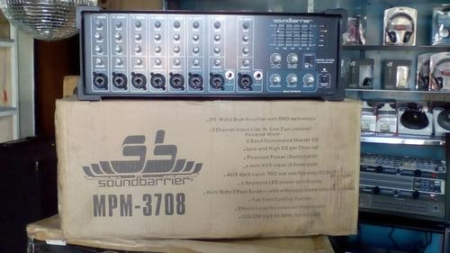 Consola sound barrier 8 canales amplificada