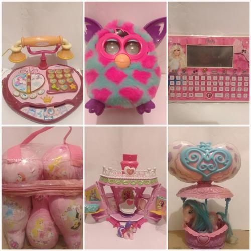 Furbys, tablet de barbie, telefono, bowling de princesa