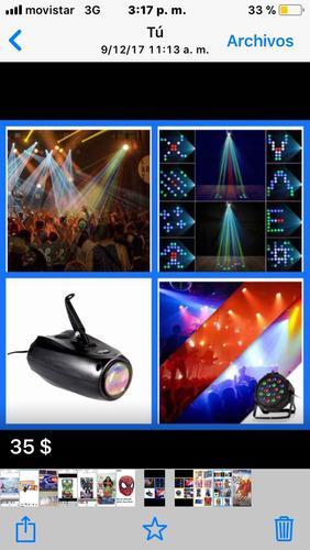 Iluminacion/luz rgb para dj fiestas con sensor de sonido