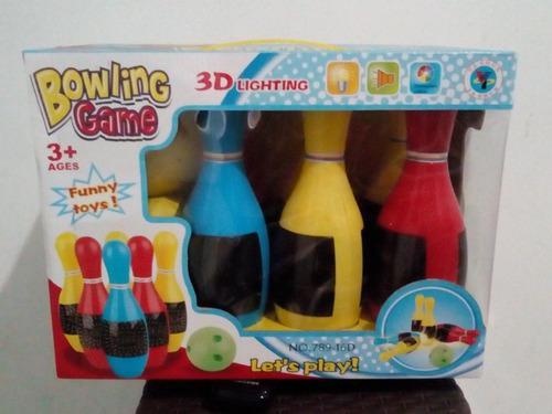 Set de bowling con luces y música