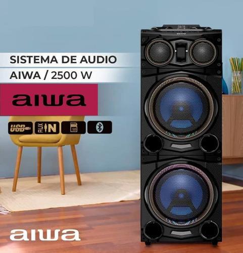 Torre o equipo de sonido aiwa 2500w bluetooth usb