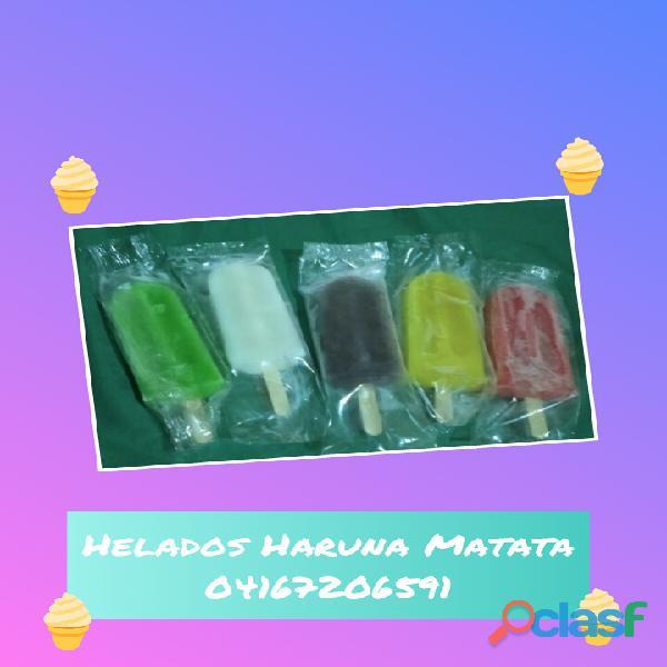 Ricos helados de paleta