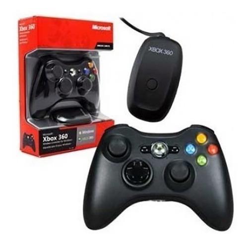 Control inalambrico original negro xbox 360 / pc
