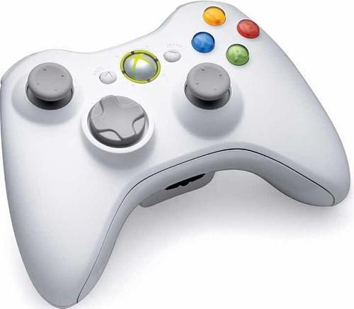 Control xbox 360 inalámbrico blanco wireless