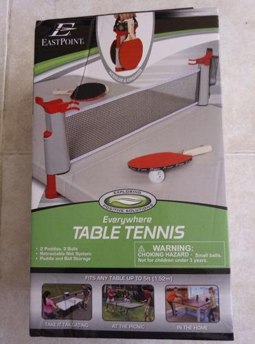 Kit malla/raquetas/bolas tenis de mesa