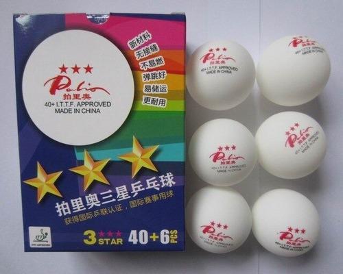 Pelota tenis de mesa palio 3 estrellas (caja 6 pzs x 12vrds)