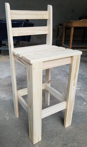 Bancos de madera taburete o silla alta