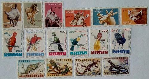 Belgica. series: zoológico antwerp y pájaros exóticos.