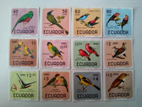 Ecuador. serie: pájaros. año: 1966.