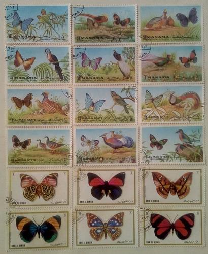Emiratos arabes unidos. series: mariposas. año: 1972.