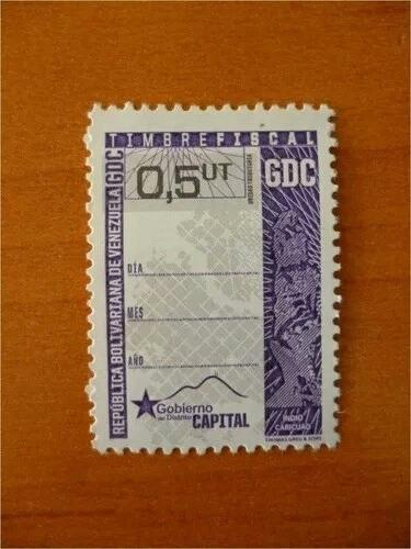 Estampilla timbre fiscal 0,5ut equivale 0,05ut precio x c/u.