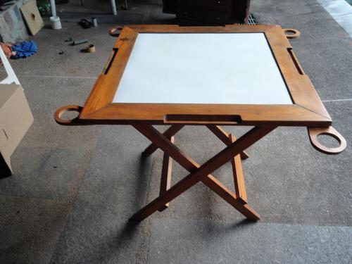 Mesa madera para jugar dominó plegable