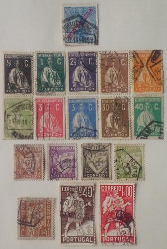 Portugal. estampillas variadas desde 1910 a 1937.