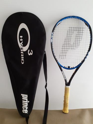 Raqueta de tenis prince o3/ forro/ 3 pelotas