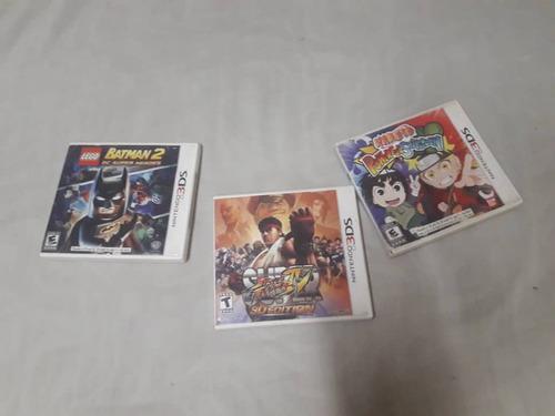 Tres juegos originales 3ds