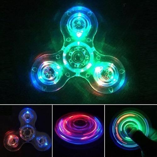 Fidget spinner argom luces led