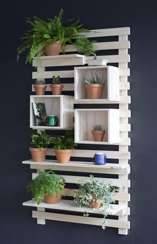 Jardinera vertical repisa aérea madera de pino palet