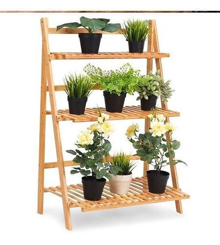 Jardinera vertical repisa estante escalera de madera de pino