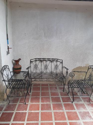 Juego muebles jardín hierro forjado