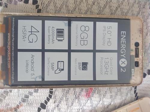 Teléfono celular android blu energy x2 para reparar