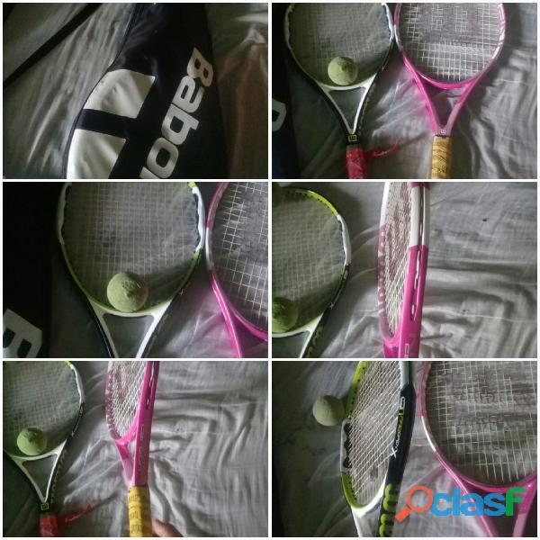 A la venta 2 raquetas marca Wilson originales con su forro