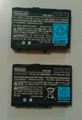 Bateria para nintendo ds lite