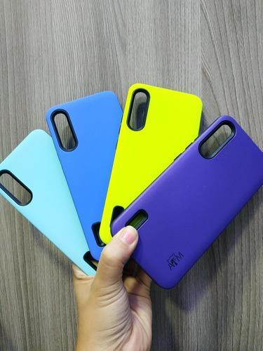 Forro Resistente Unicolor Para A50s / A30s Y A50 + Vidrio