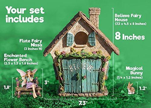 Joykick fairy garden kit para hogar figura hada
