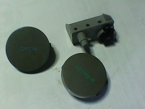 Kit botones reset, power,freno tapa para ps1 grises