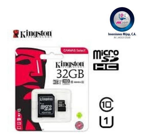 Memoria Micro Sd Hc Kingston 32 Gb Clase 10