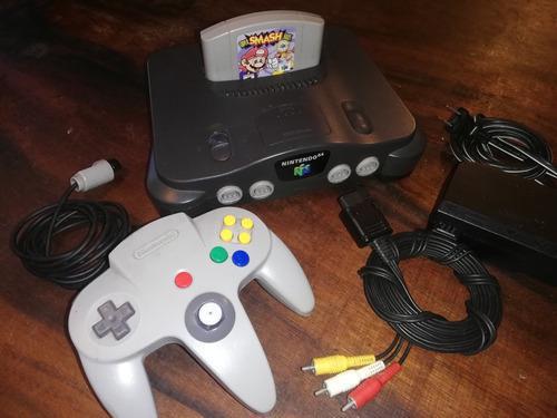 Nintendo 64 + control + cable av original + juego mario!