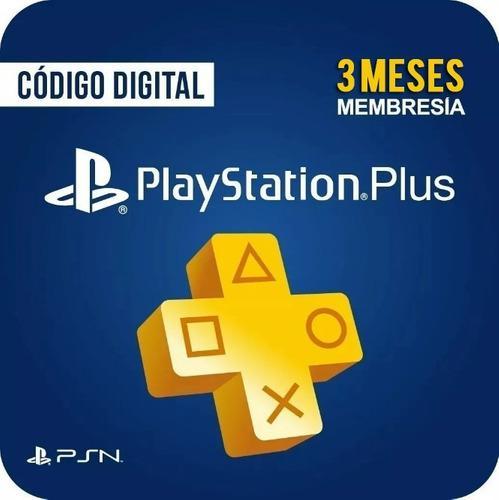 Playstation plus 3 meses codigo membresia usa