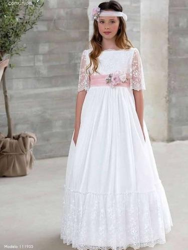 Vestido blanco niñas comunión