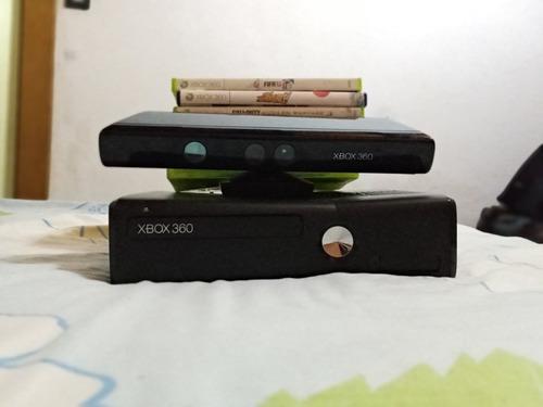 Xbox 360 con kinect + 6 juegos + 1 control con teclado