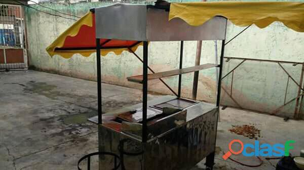 Carro de Perro calientes y hamburguesa
